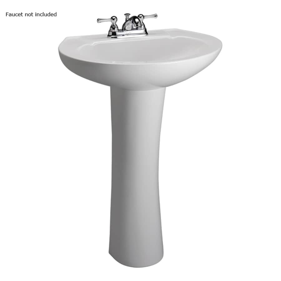 Barclay Hampshire 31.5-in H White Vitreous China Pedestal Sink