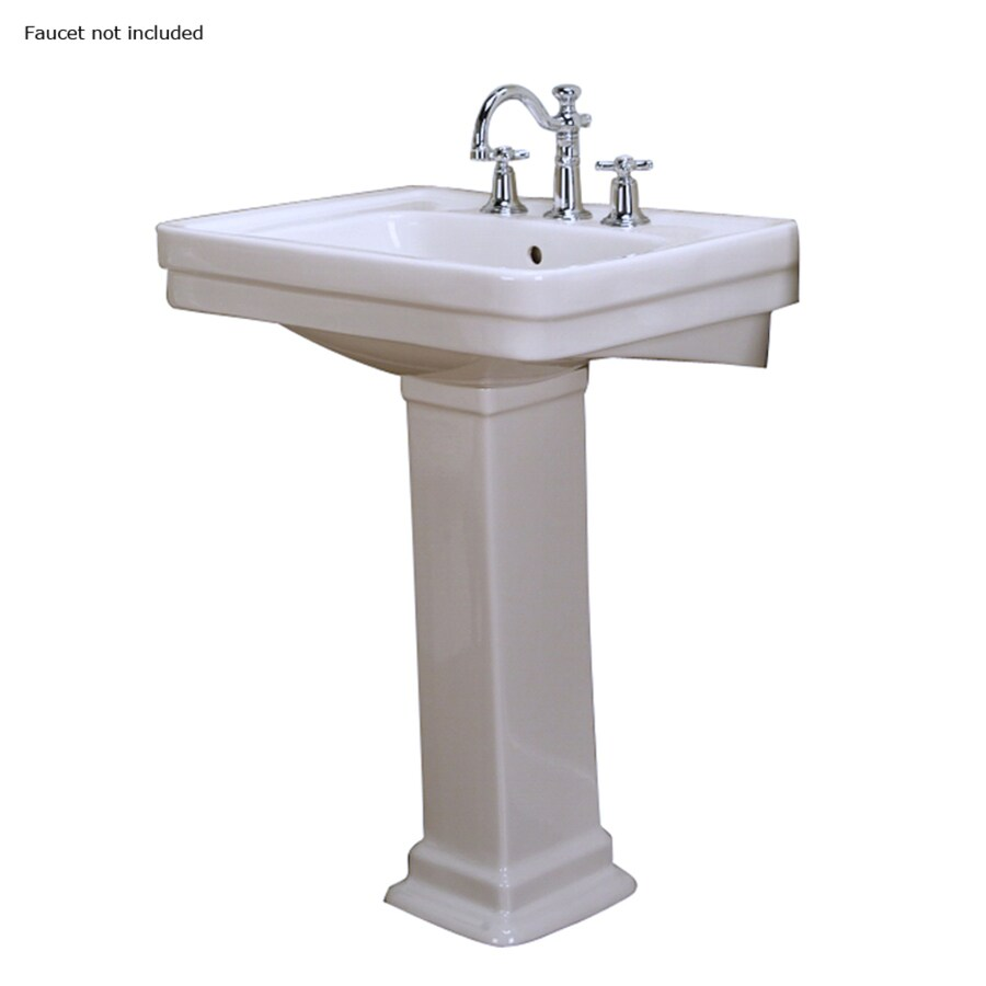 Shop Barclay Sussex H White Vitreous China Pedestal Sink At