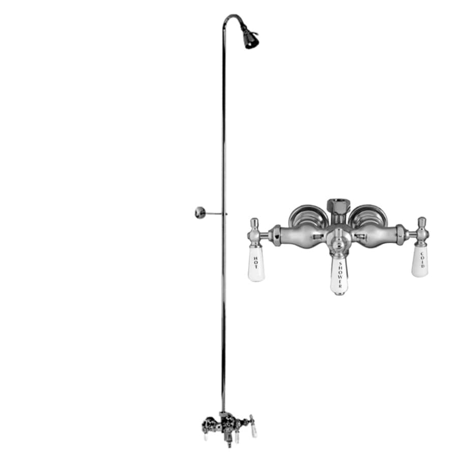 Barclay Polished Chrome 3-Handle Bathtub and Shower Faucet with Multi-Function Showerhead