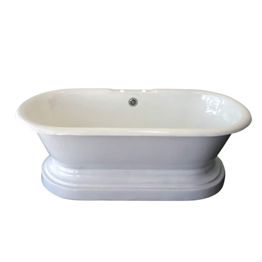 Shop Barclay Cast Iron Oval Clawfoot Bathtub With Center Drain Common 32 In