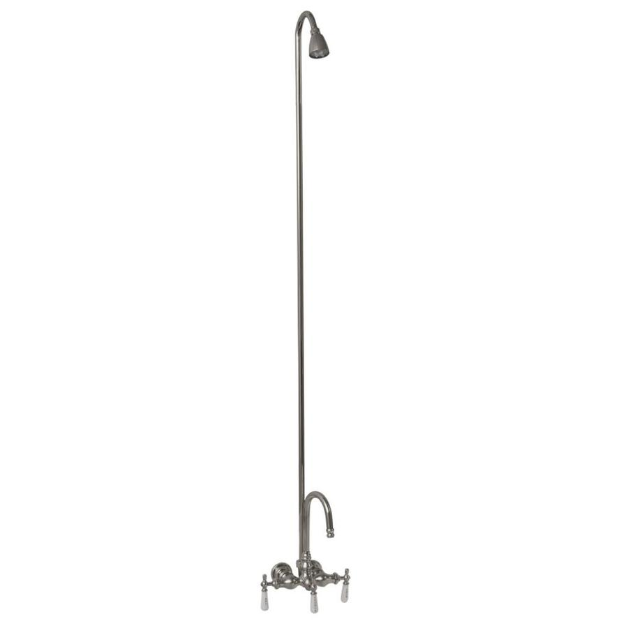 Barclay Polished Chrome 3-Handle Bathtub and Shower Faucet with Single Function Showerhead