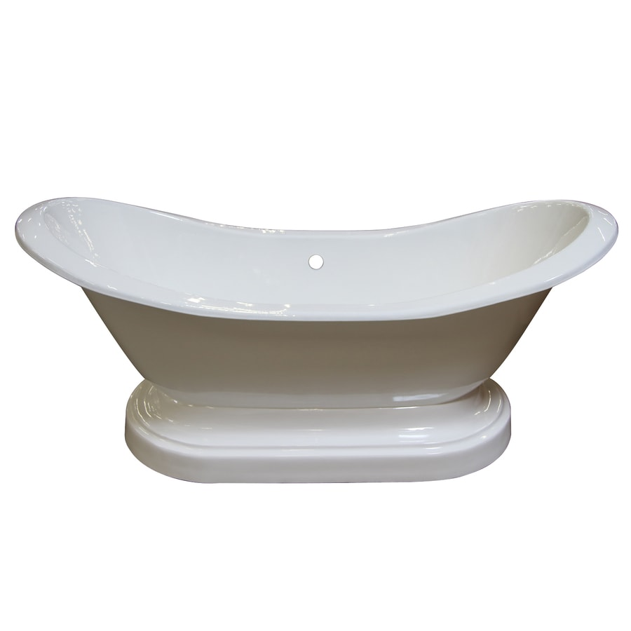 Barclay Cast Iron Oval Pedestal Bathtub with Center Drain (Common: 30-in x 72-in; Actual: 31-in x 30-in x 71-in)