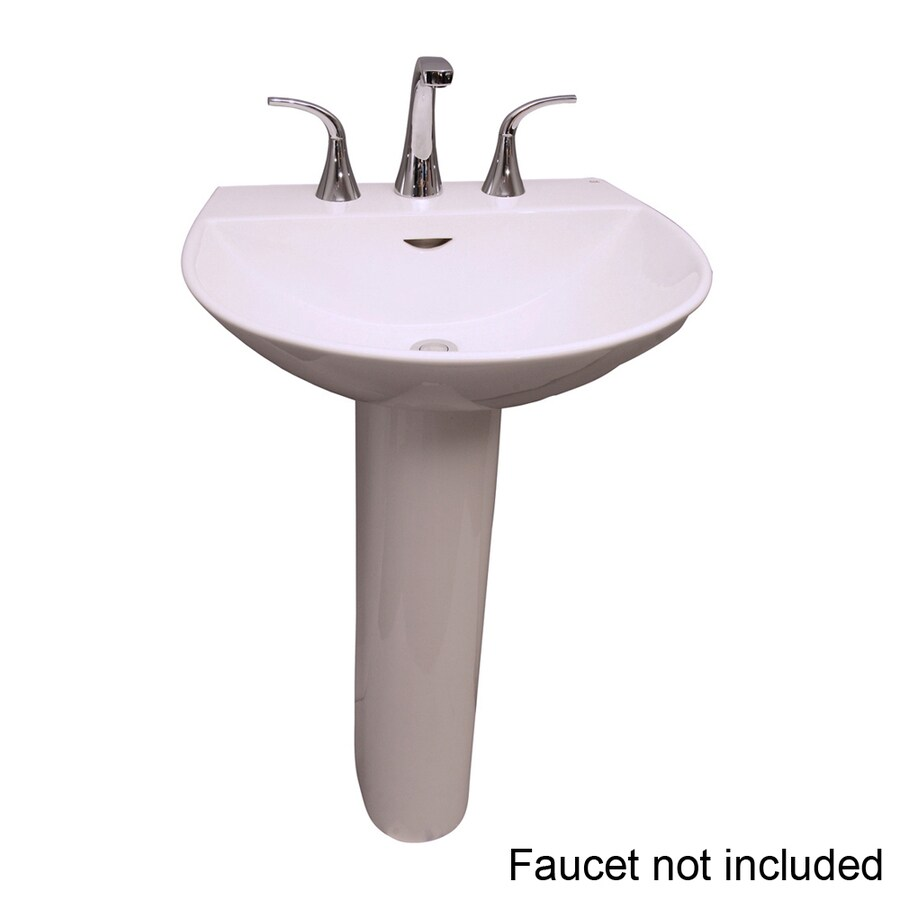 Barclay Reserva 33.5-in H White Vitreous China Pedestal Sink