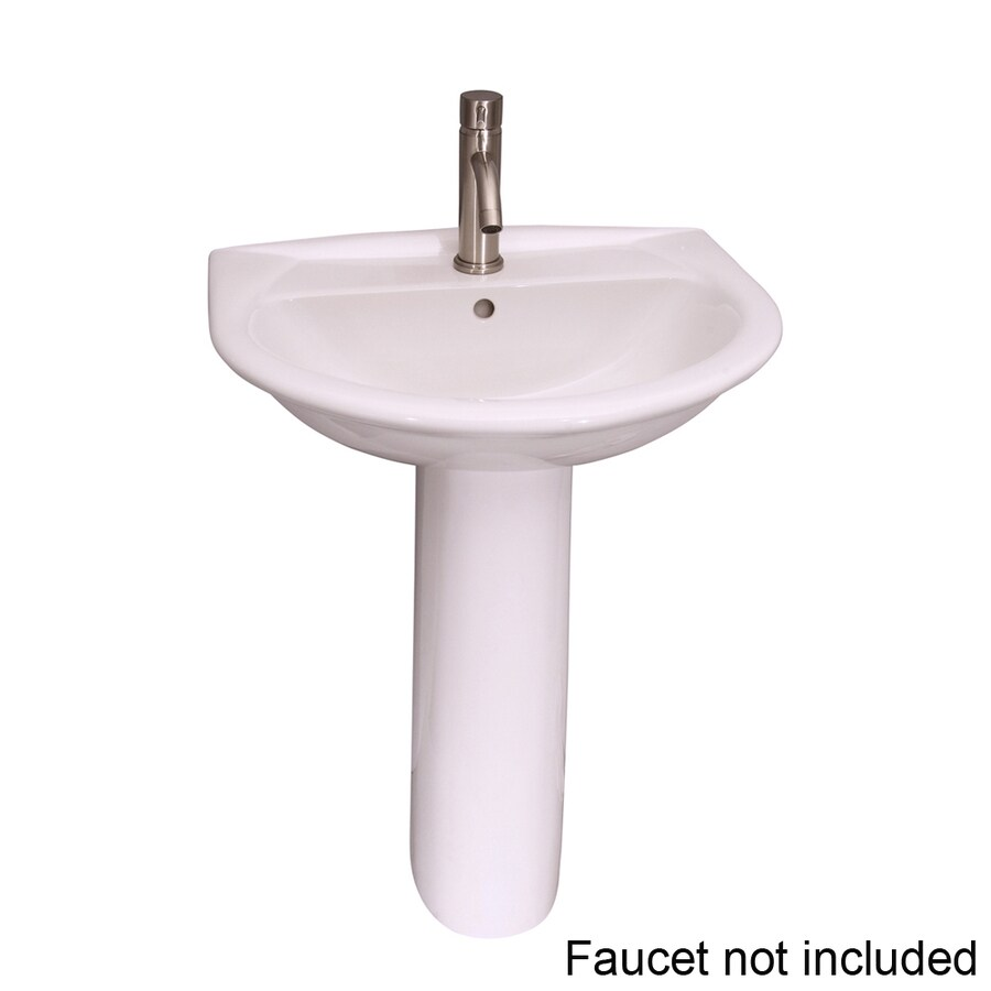 ... Barclay Karla 33-in H White Vitreous China Pedestal Sink at Lowes.com
