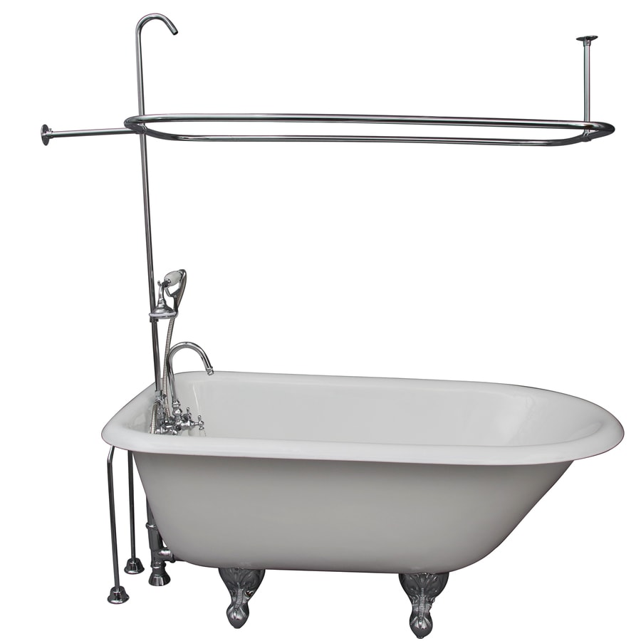 Barclay Cast Iron Oval Clawfoot Bathtub with Back Center Drain (Common: 30-in x 55-in; Actual: 25-in x 30-in x 55.5-in)