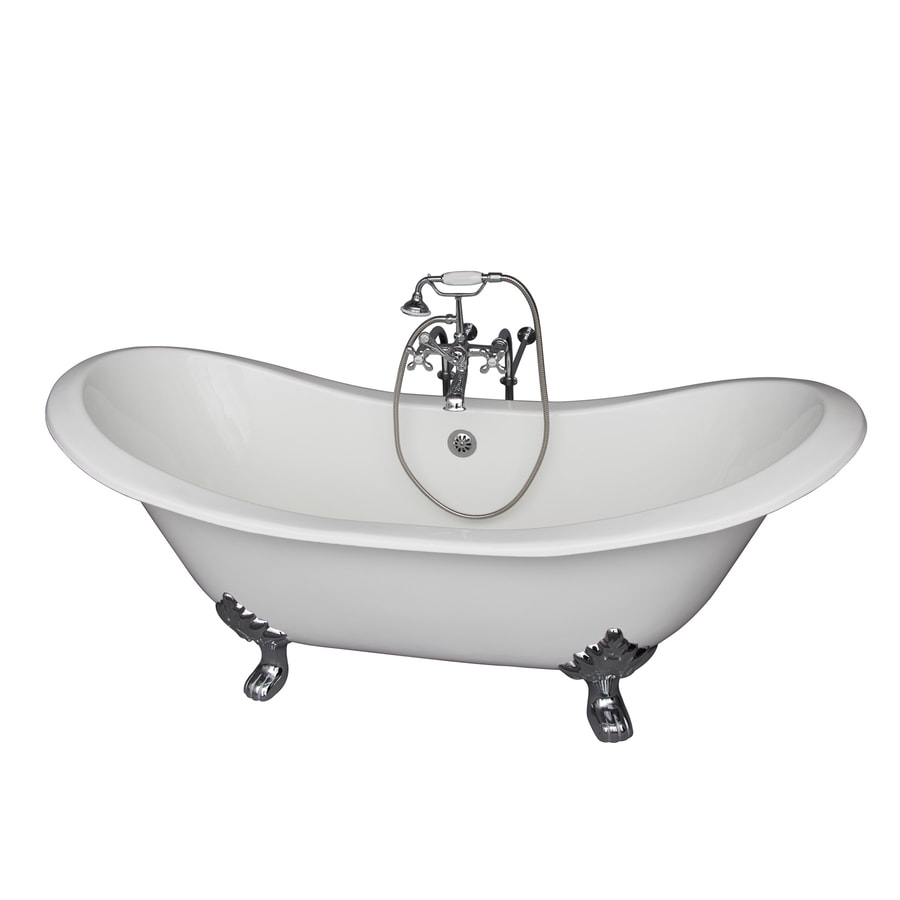 Shop Barclay Cast Iron Oval Clawfoot Bathtub With Center