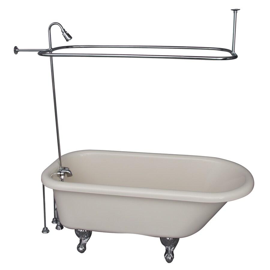 bathtub with center drain