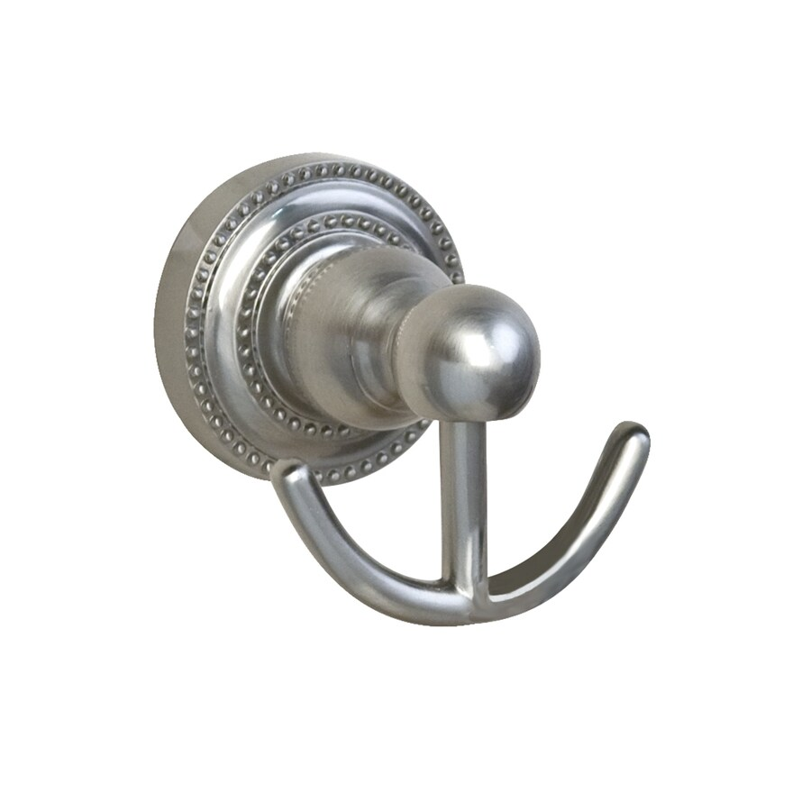 Barclay Nevelyn 2-Hook Brushed Nickel Robe Hook