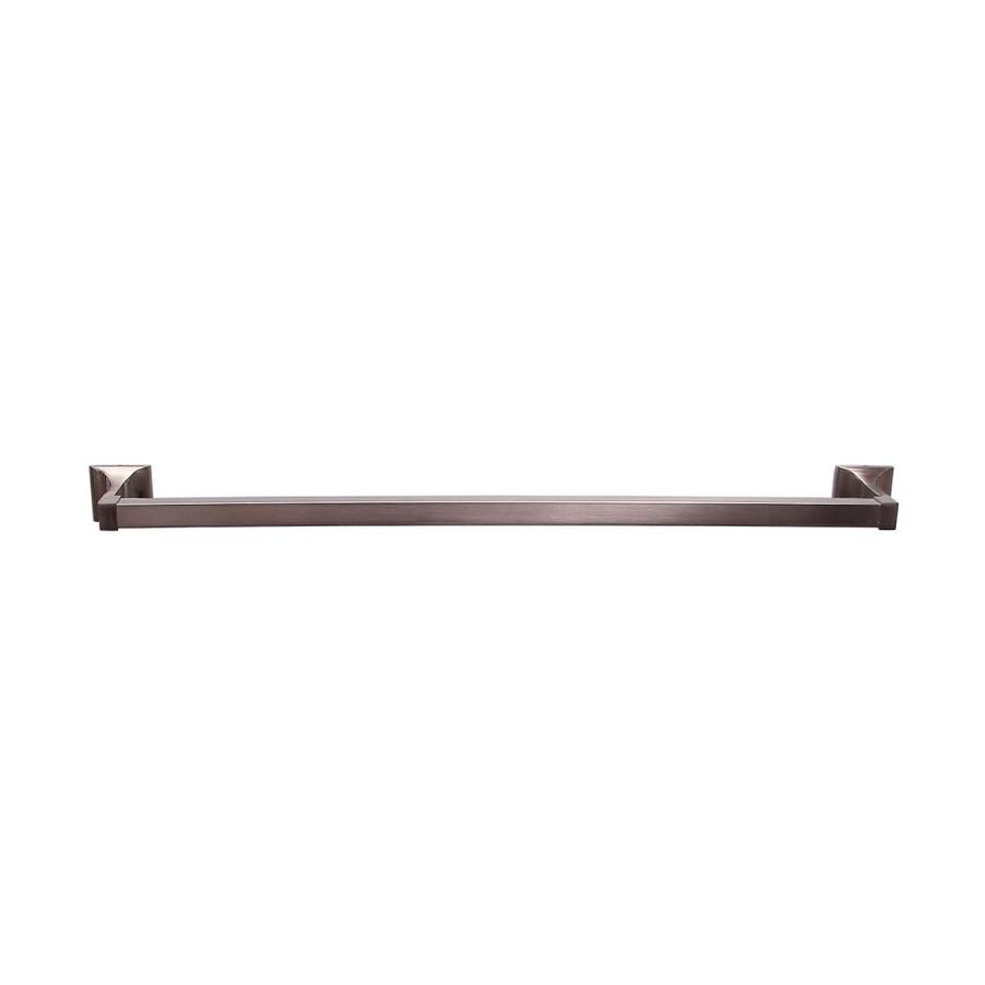 Barclay Hennessey Satin Nickel Single Towel Bar (Common: 26-in; Actual: 26-in)