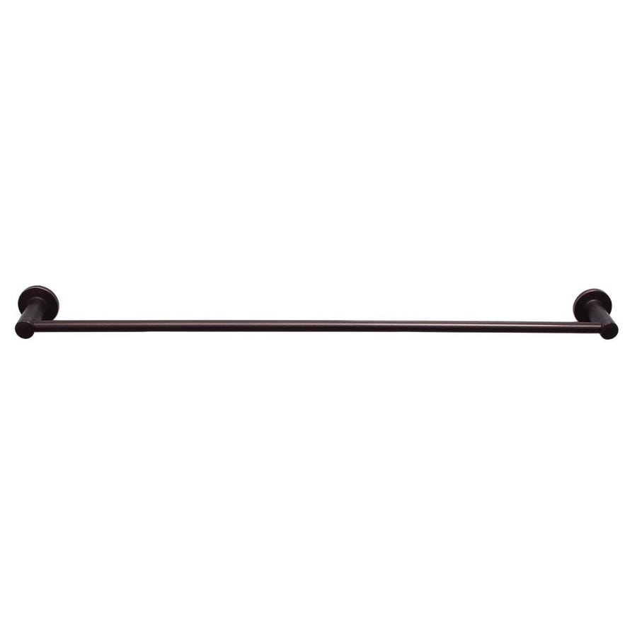 Barclay Flanagan Oil Rubbed Bronze Single Towel Bar (Common: 30-in; Actual: 30.37-in)