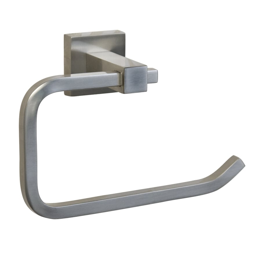 Toilet paper holder stand brushed nickel barclay products everdeen - Brushed nickel standing toilet paper holder ...