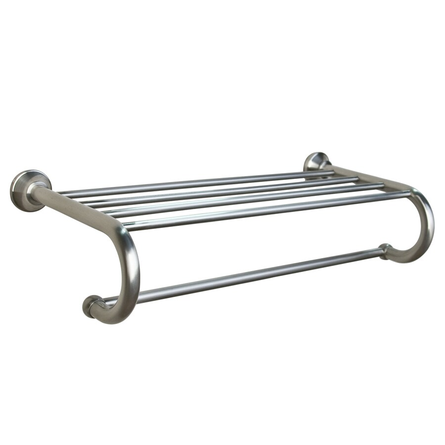 Barclay Kendall Brushed Nickel Rack Towel Bar (Common: 24-in; Actual: 24.5-in)