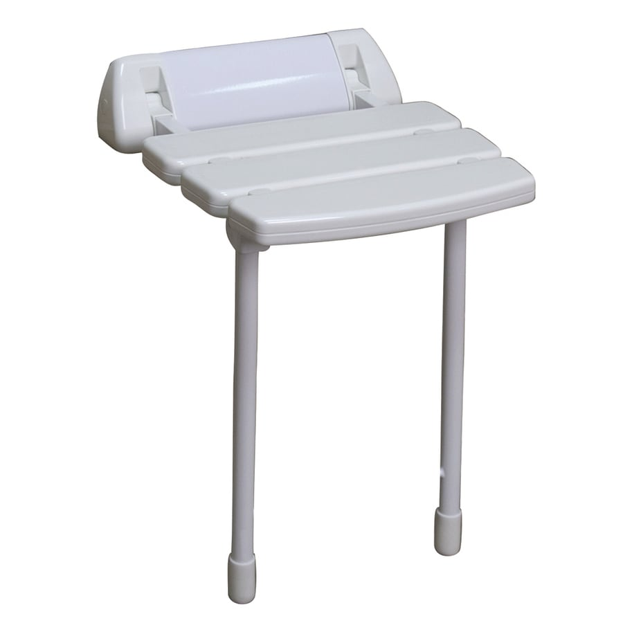 Barclay White Plastic Wall Mount Shower Seat