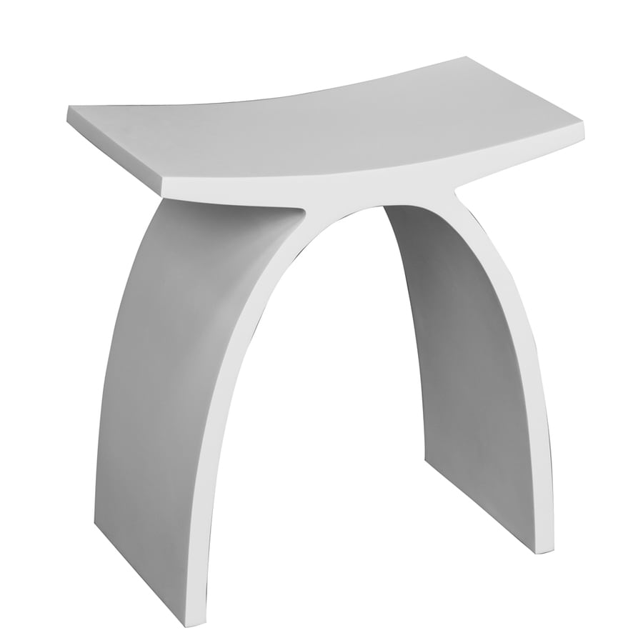 Shop Barclay White Composite Freestanding Shower Seat At