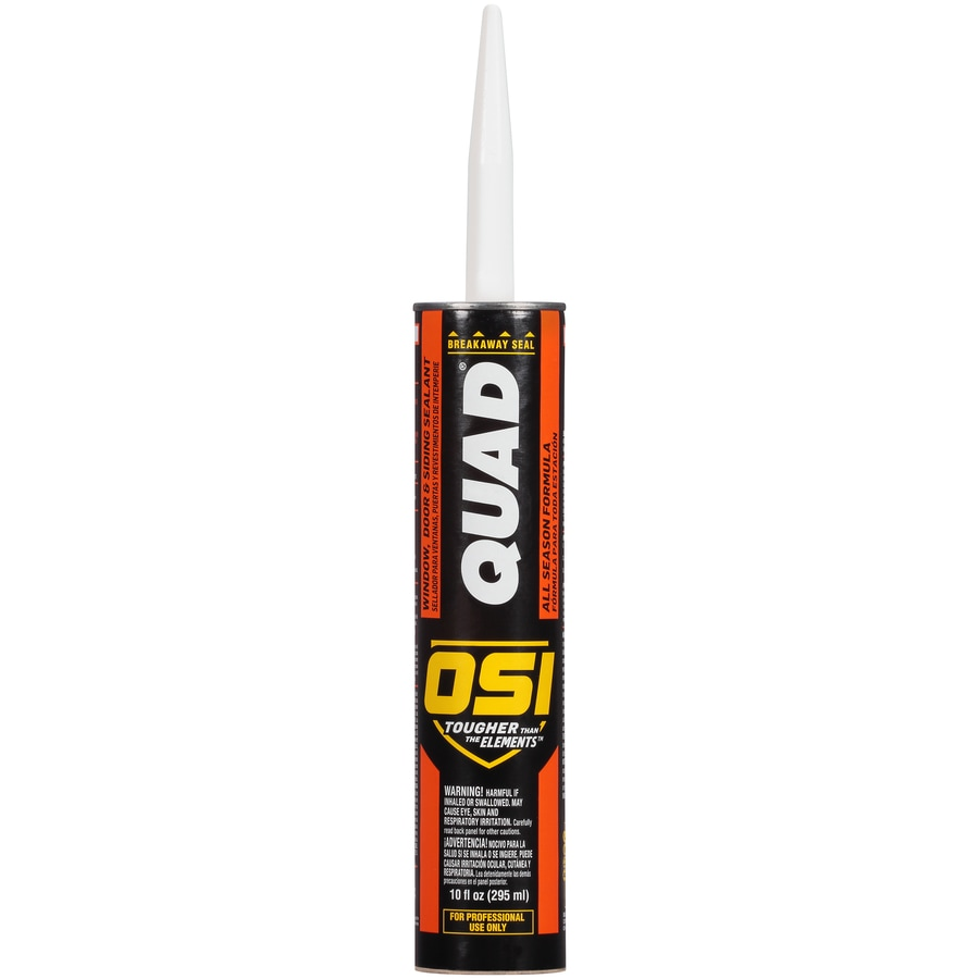 OSI QUAD Quad 10-oz Beige Paintable Solvent-Based Window and Door Caulk