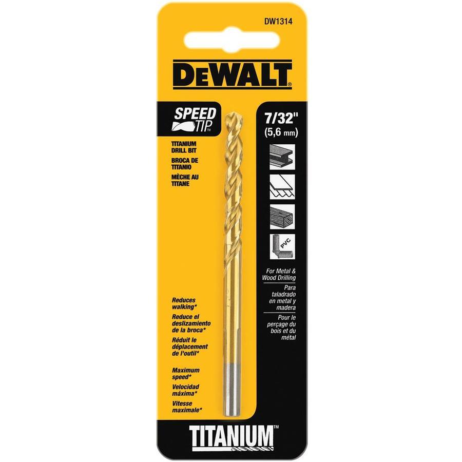 DEWALT 7/32-in Titanium Twist Drill Bit