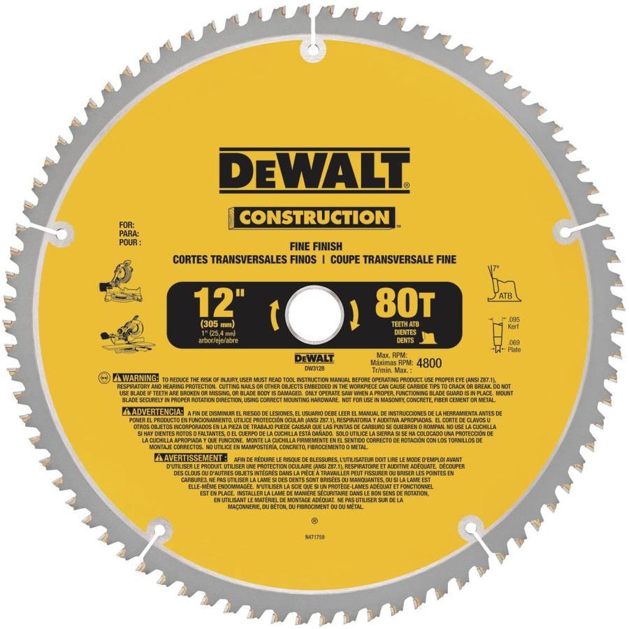 DEWALT Construction 12-in 80-Tooth Segmented Carbide Circular Saw Blade