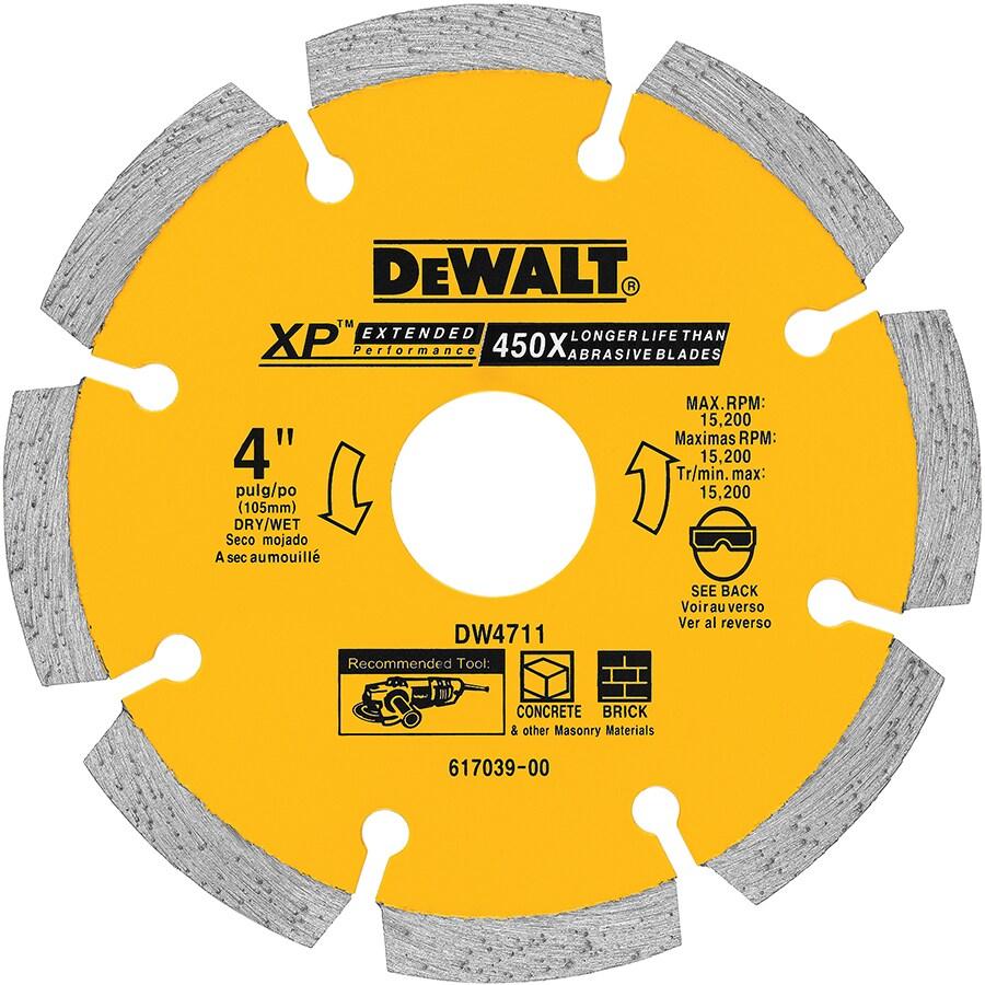 DEWALT 4-In Segmented Diamond Blade