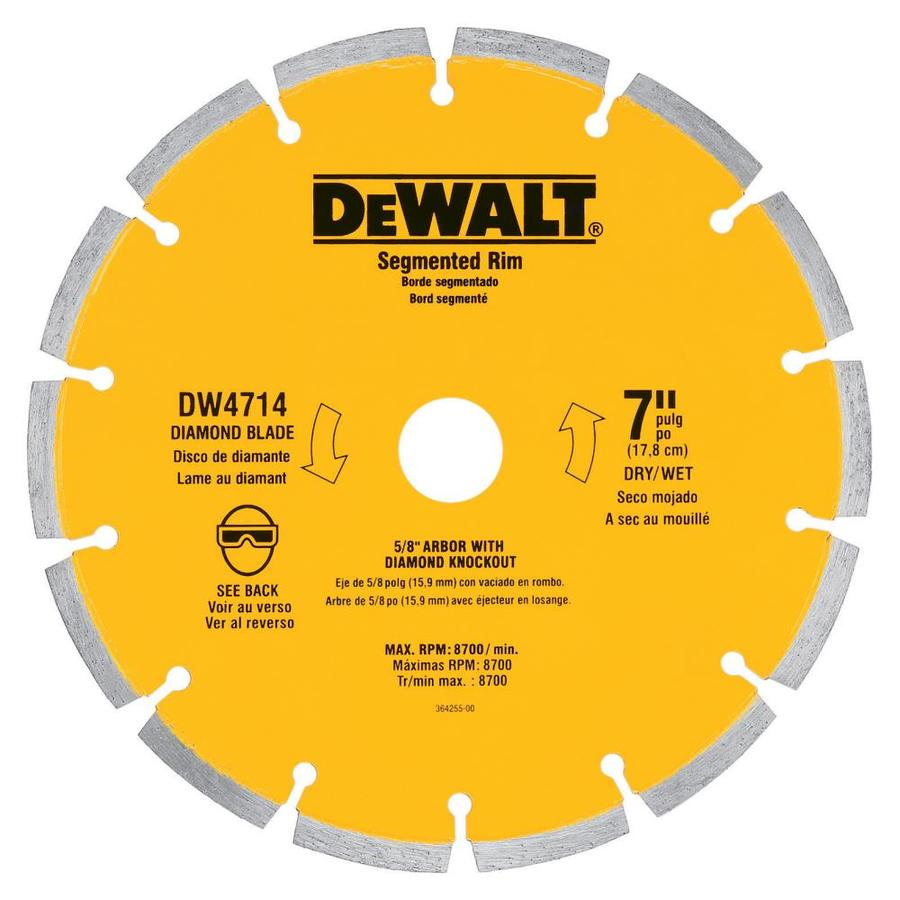 DEWALT 7-in Wet or Dry Segmented Diamond Circular Saw Blade