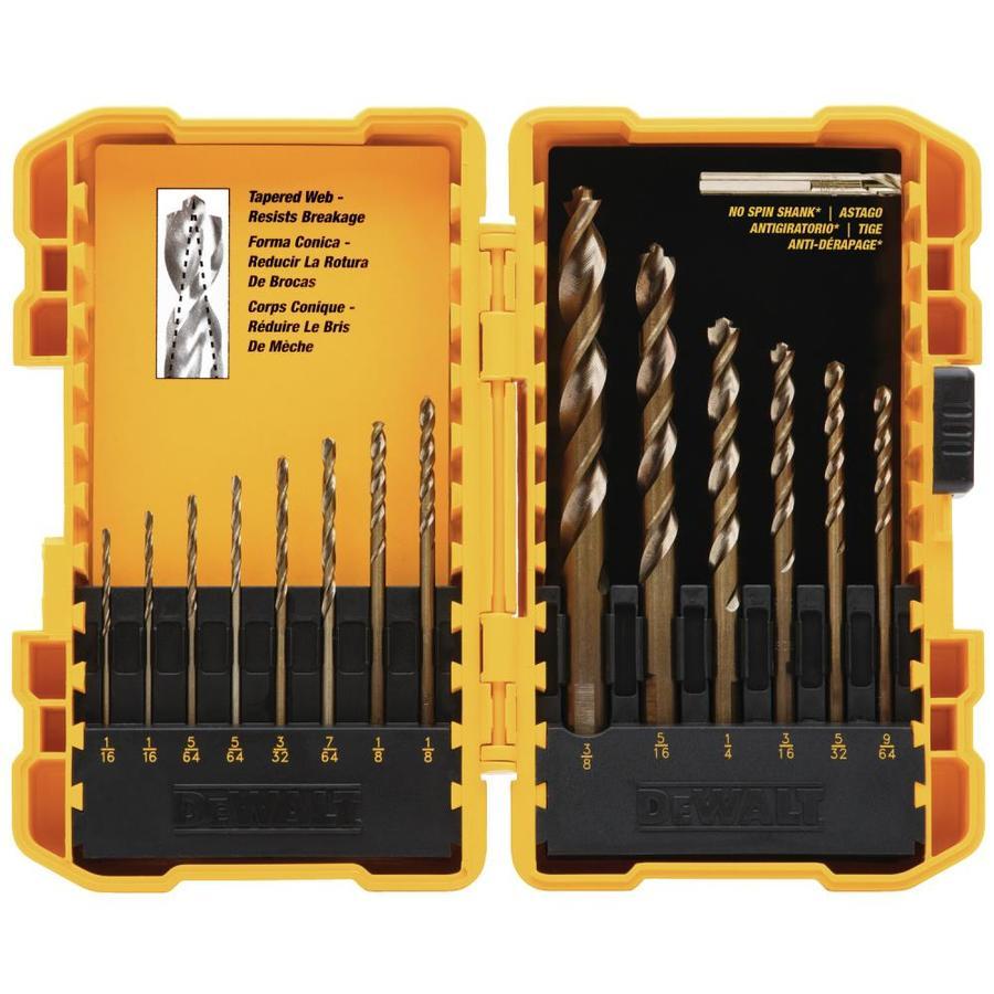 DEWALT 14-Pack Gold Ferrous Twist Drill Bit Set