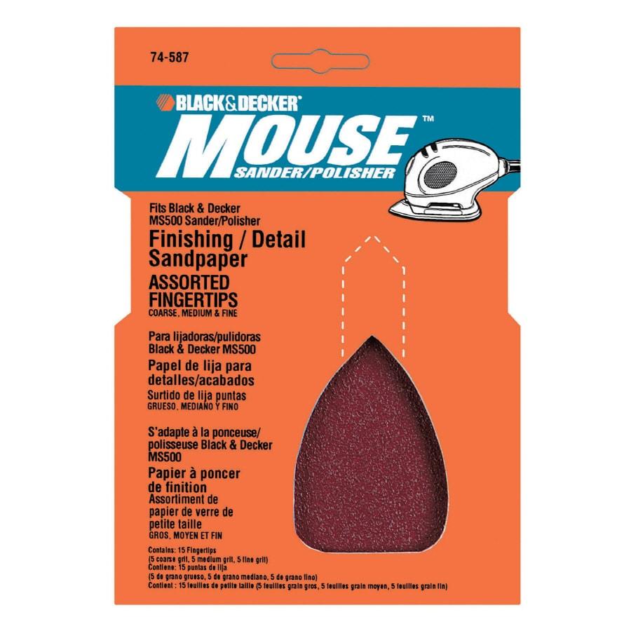 BLACK & DECKER 15-Pack 4.5-in W x 5.75-in L Multi-Grade Pack Commercial Detail Sandpaper