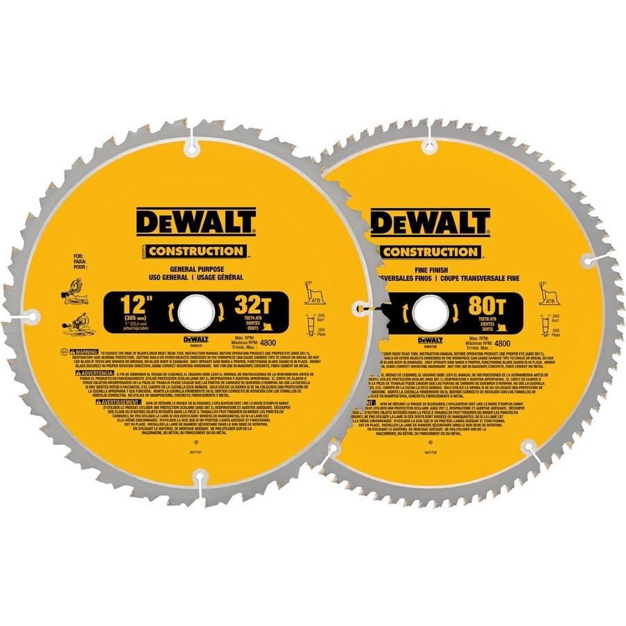 DEWALT 12-in Circular Saw Blade Set