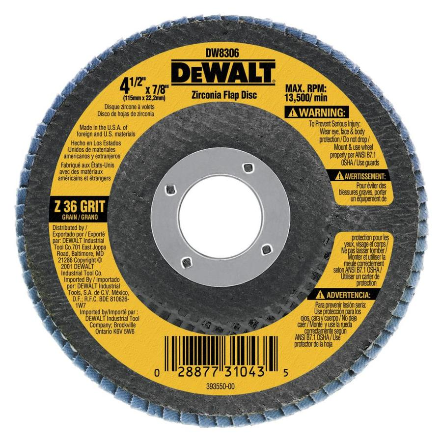 DEWALT 4.5-in W x 4.5-in L 36-Grit Industrial High Performance Abrasive Sandpaper