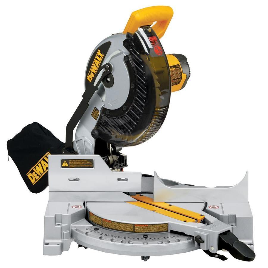 shop dewalt 10 in 15 amp single bevel compound miter saw. Black Bedroom Furniture Sets. Home Design Ideas