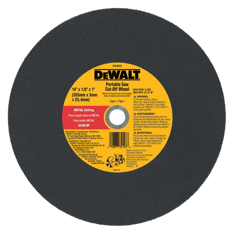 DEWALT 14-in Continuous High-Performance Aluminum Oxide Circular Saw Blade