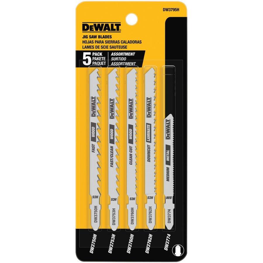 DEWALT 5-Pack T-Shank Jigsaw Blade Set