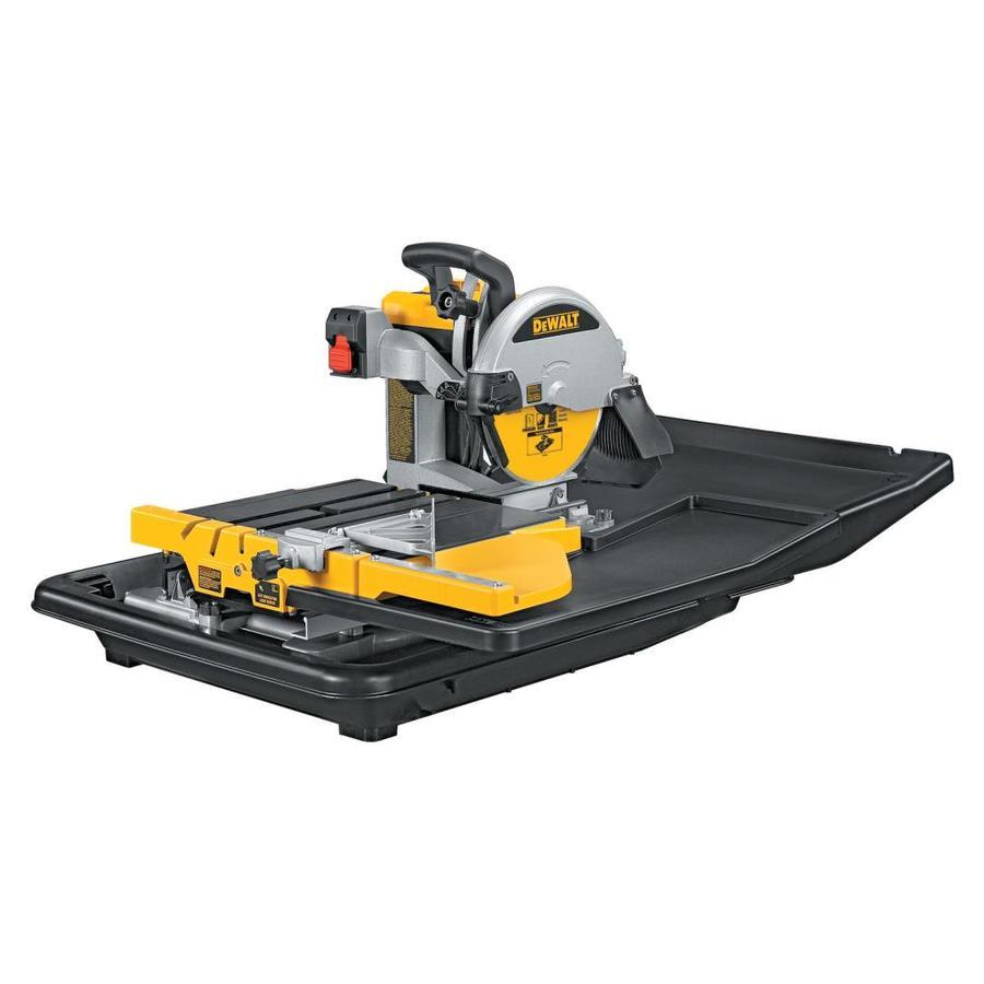 Shop dewalt 10 in 1 5 hp wet sliding table tile saw at for 10 sliding table saw