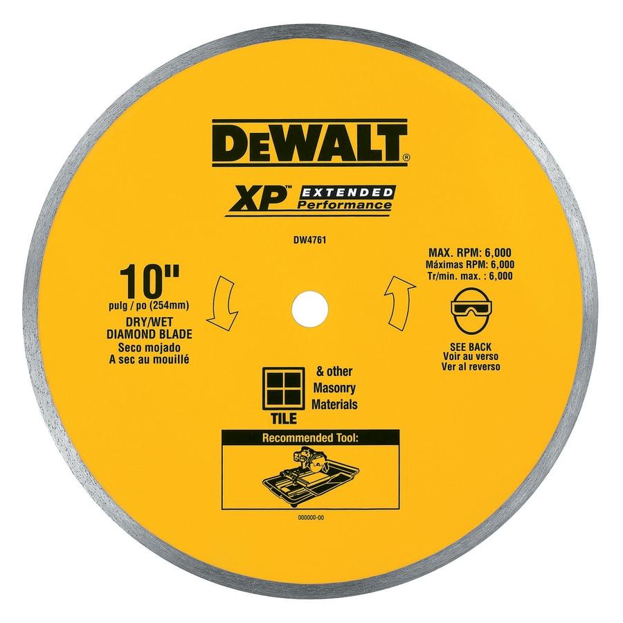 DEWALT 10-in Wet Continuous Diamond Circular Saw Blade