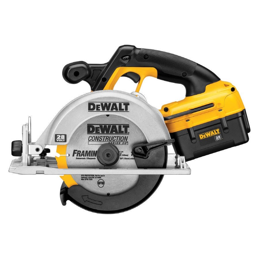 DEWALT 28-Volt 6-1/2-in Cordless Circular Saw with Brake