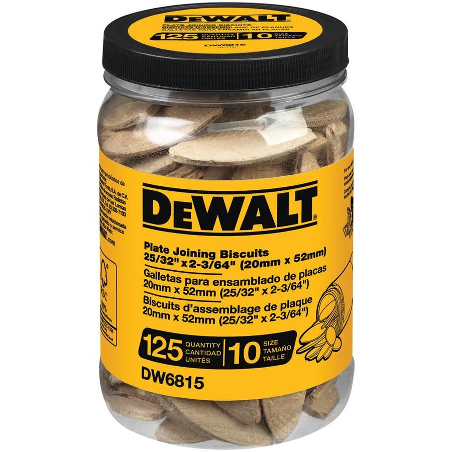 DEWALT 125-Count 10-Size Plate Joining Biscuits