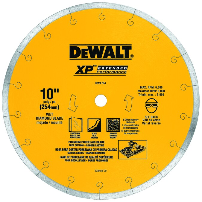 Dewalt 10 In Wet Continuous Diamond Tile Saw Blade In The Circular Saw Blades Department At Lowes Com