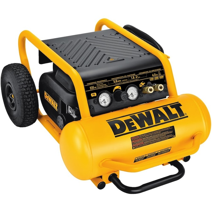 DEWALT 4.5-Gallon Single Stage Portable Electric Horizontal Air Compressor