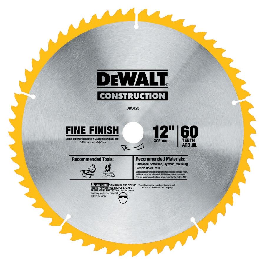 DEWALT 12-in 60-Tooth Standard High-Speed Steel Circular Saw Blade