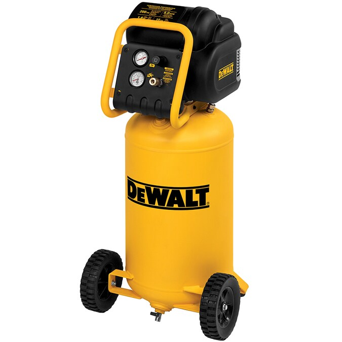 DEWALT 15-Gallon Single Stage Portable Electric Vertical Air Compressor