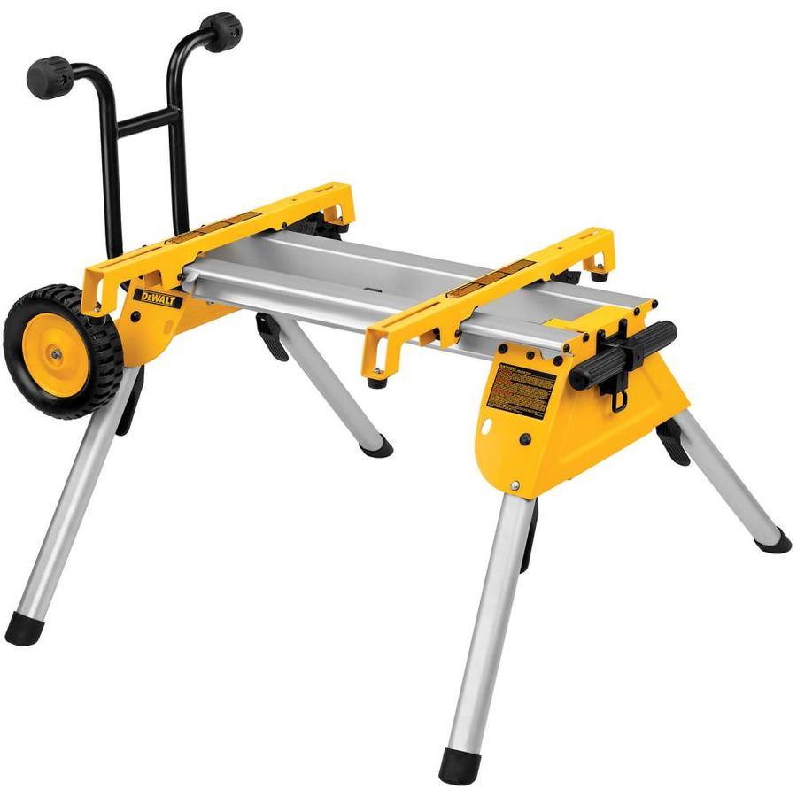Shop dewalt table saw rolling stand at for Table saw lowes