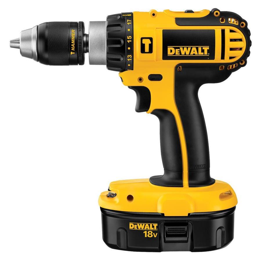 DEWALT 1/2-in 18-Volt Nickel Cadmium (NiCd) Variable Speed Cordless Hammer Drill