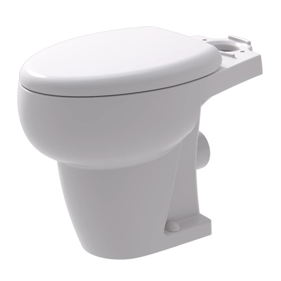 Bathroom Anywhere Standard Height White 12-in Rough-in Elongated Toilet Bowl