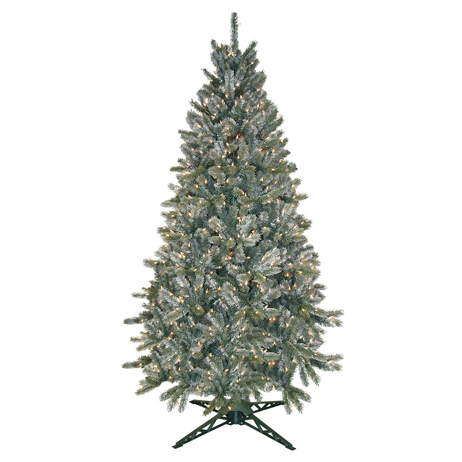Shop ft pre lit pine artificial christmas tree with