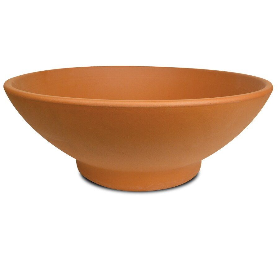 Pennington 12.21-in x 5.12-in Terra Cotta Clay Bowl Low Bowl Planter