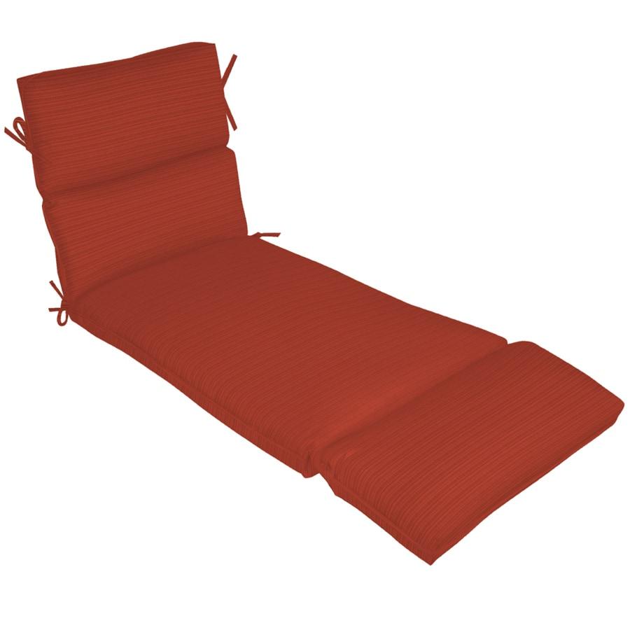 Shop 73 in l x 23 in w sunbrella dupione papaya red for 23 w outdoor cushion for chaise