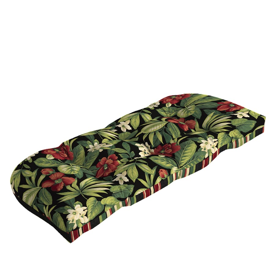 Shop garden treasures sanibel black tropical cushion for - Garden treasures replacement cushions ...