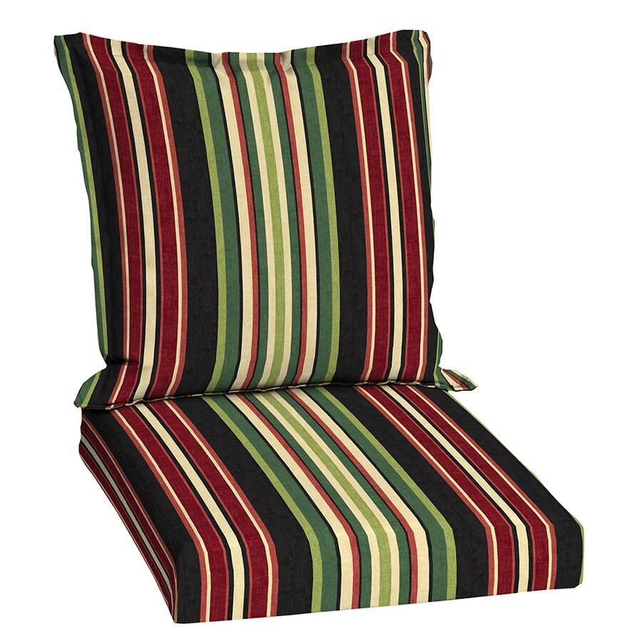 Garden Treasures Sanibel Black Stripe Cushion For Universal