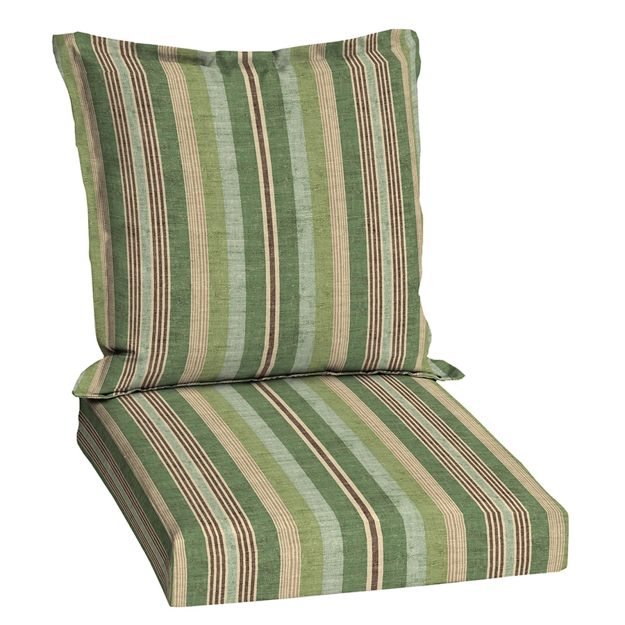 Shop Allen Roth Green Stripe Cushion For Universal At