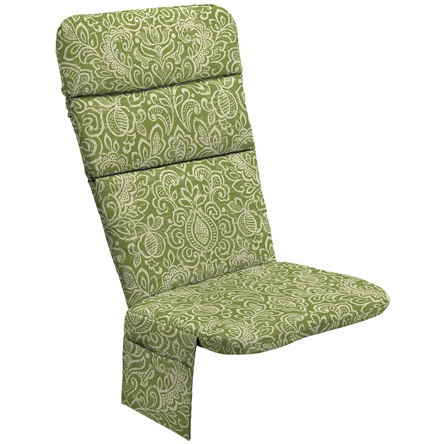 Garden Treasures Green Stencil Paisley Cushion For Adirondack Chair
