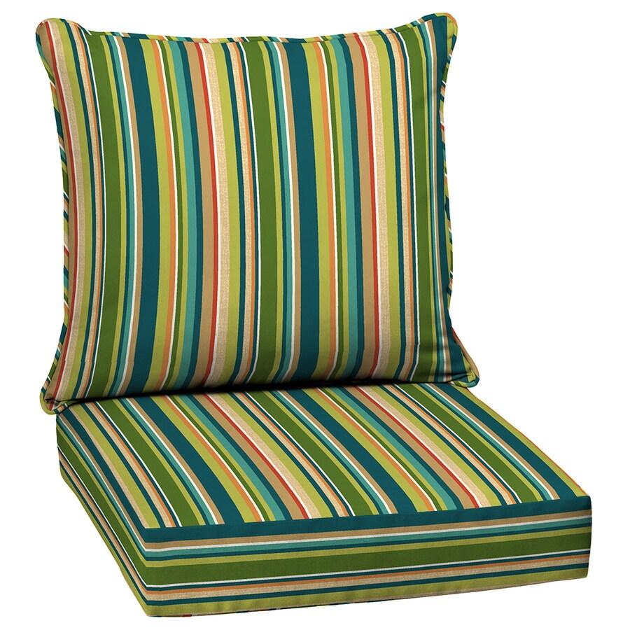 Garden Treasures Bloomery Stripe Cushion for Deep Seat Chair