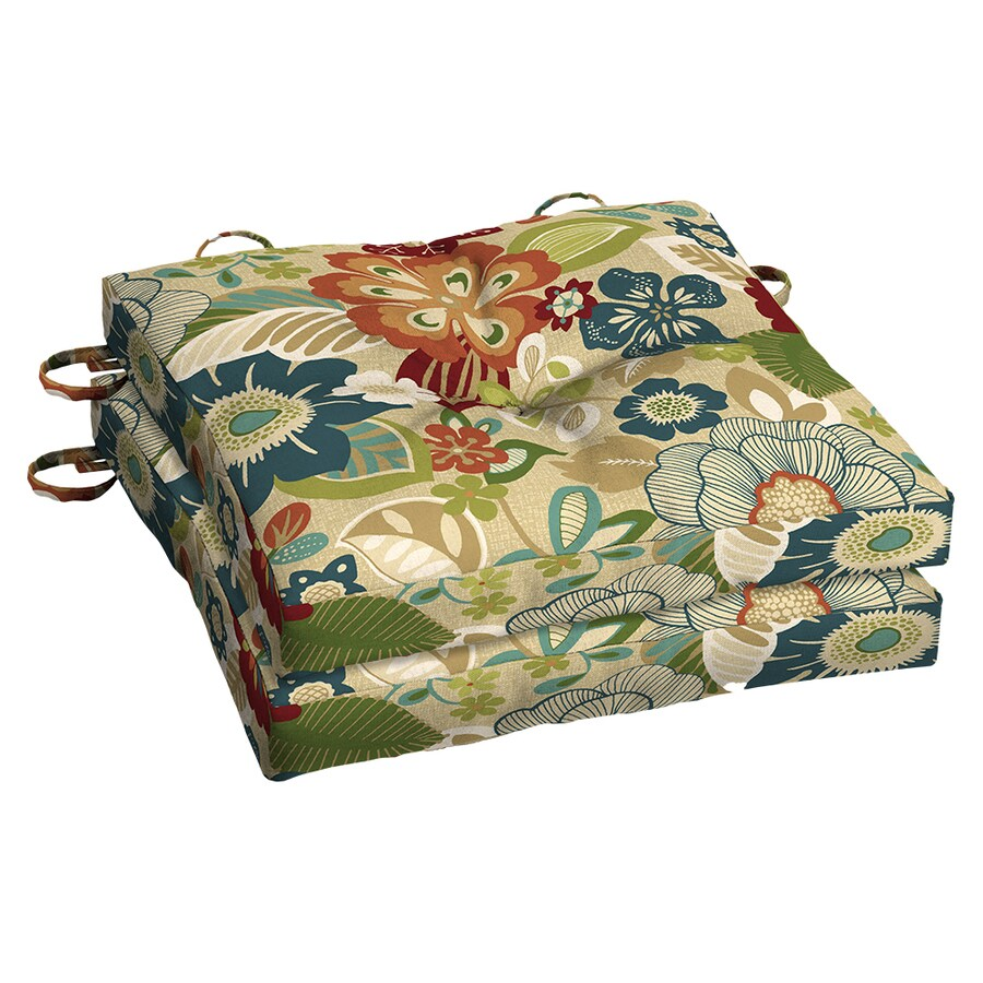 Garden Treasures Bloomery Floral Seat Pad for Bistro Chair